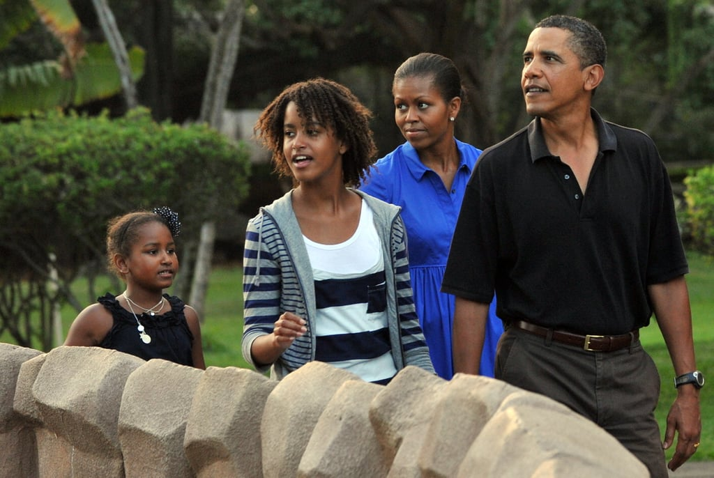 obama family vacation pictures popsugar celebrity