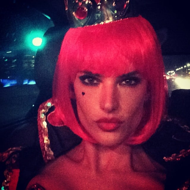 Alessandra Ambrosio shared a close-up of her Queen of Hearts costume. Source: Instagram user alessandraambrosio