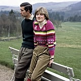 The couple were soon to be married when they posed for photos in Scotland in May 1981.