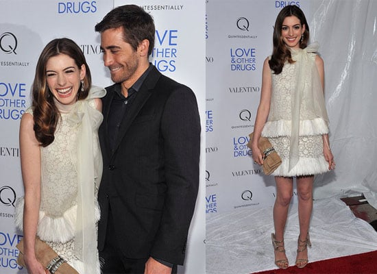Jake Gyllenhaal and Anne Hathaway at a Screening of Love and Other Drugs in New York