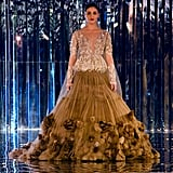 Walking the runway in a show-stopping Manish Malhotra outfit.