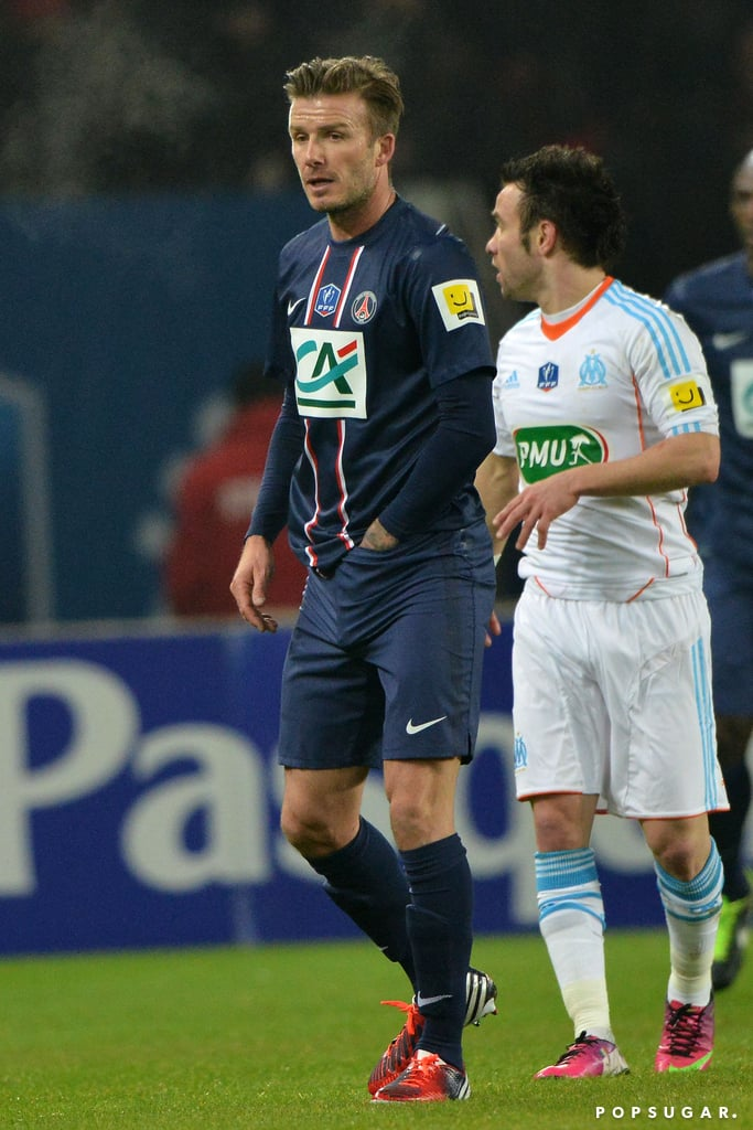 David Beckham had his first start for his new team Saint-Germain in Paris.
