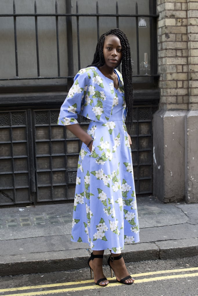 A retro floral dress with a matching jacket
