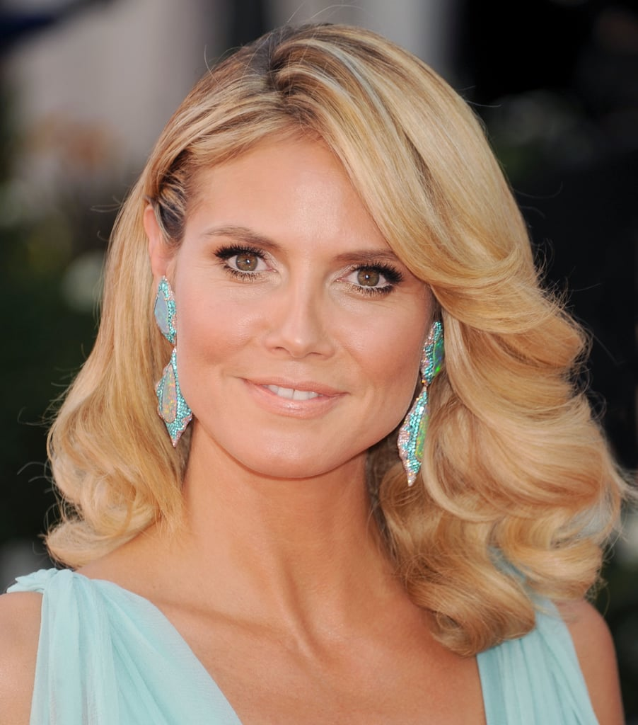 At the 2012 Emmys, Heidi channeled Farrah Fawcett with this layered, feathered hairstyle.