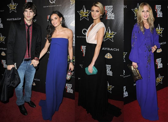 Photos of Demi Moore, Ashton Kutcher, and Rachel Zoe Attending the Hollywood Domino's Pre-Oscar Gala