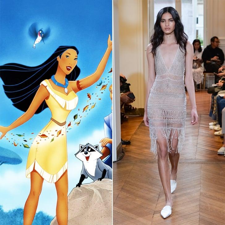 Pocahontas in Alberta Ferretti Haute Couture