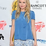 Kristen Bell smiled for the cameras on the red carpet.