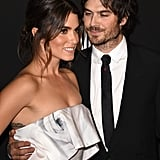 Ian only had eyes for Nikki on the red carpet at a 2015 Golden Globes afterparty.