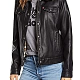 Levi's Faux Fur Lined Faux Leather Trucker Jacket