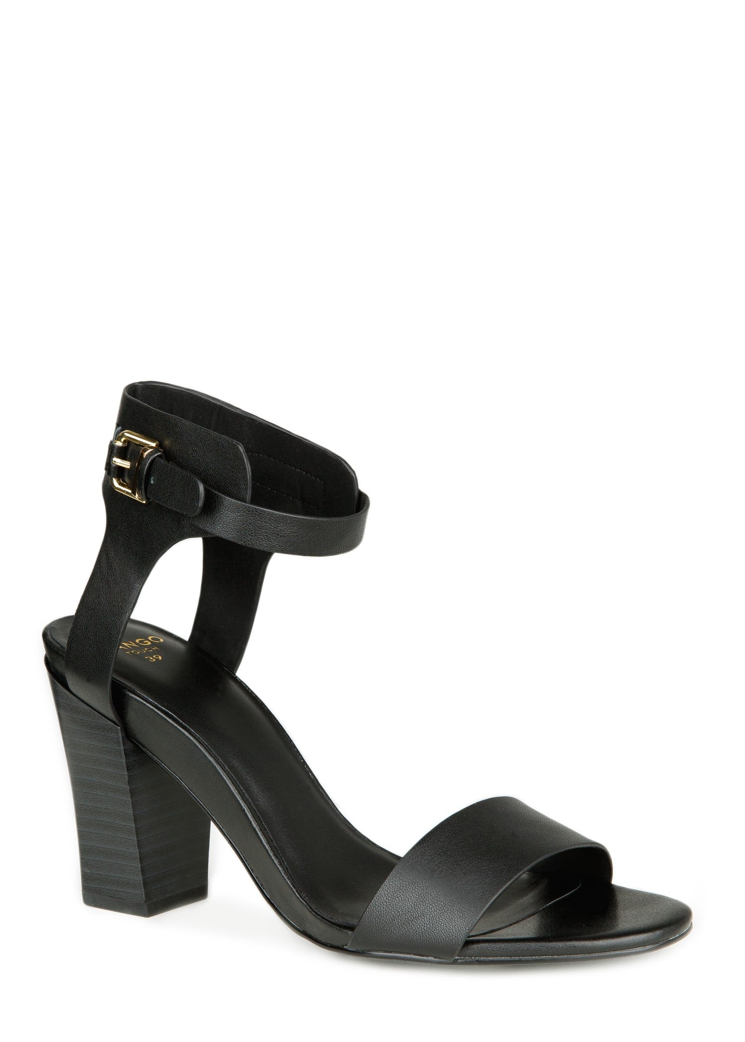 Mango Black Ankle-Strap Sandals