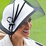 June: Meghan made her first appearance at the Royal Ascot.