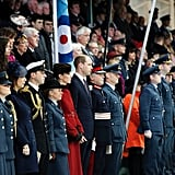 She stood out a mile at the RAF Search and Rescue ceremony.