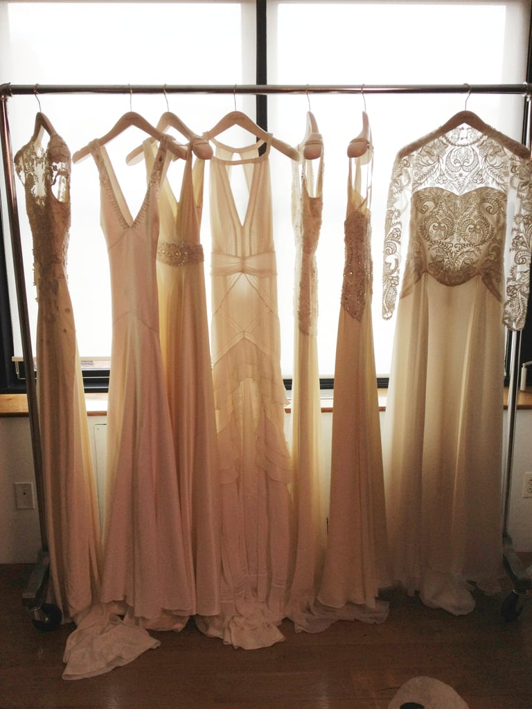 The array of beautiful gowns lit up the presentation.