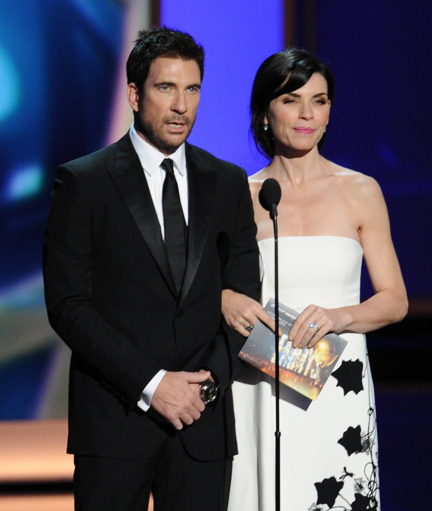 A sharply dressed Dylan McDermott presented with Julianna Margulies at the Emmys.