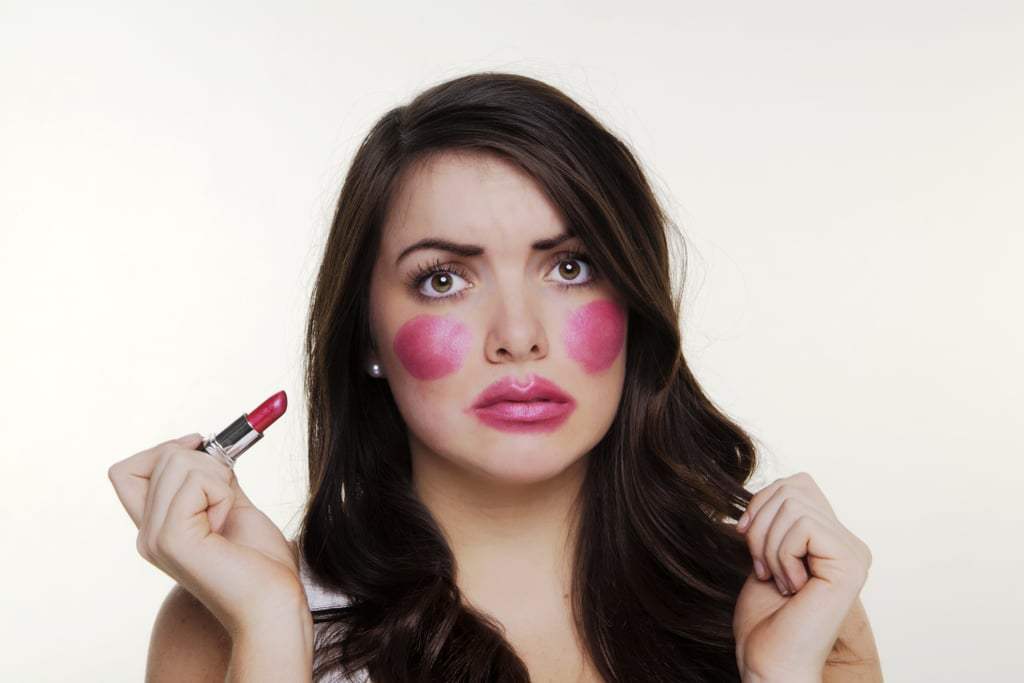 Applying your blush incorrectly.
