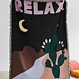 Plant Museum UO Exclusive Relax Woven Throw Blanket