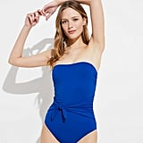 LOFT Belted Bandeau One-Piece Swimsuit