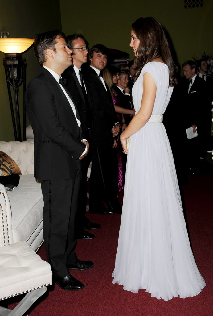 Kate Middleton wears Alexander McQueen at the BAFTA Brits to Watch event in LA.