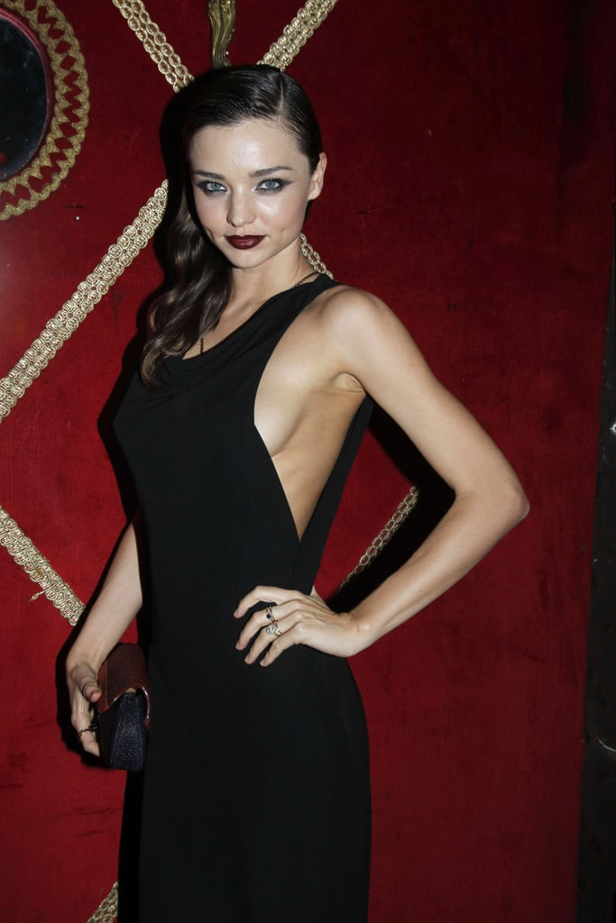 Miranda Kerr attended the Irreverent Dinner during Paris Fashion Week.