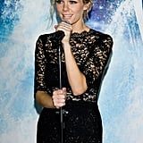 Brooklyn Decker spoke at her Seoul premiere of Battleship.
