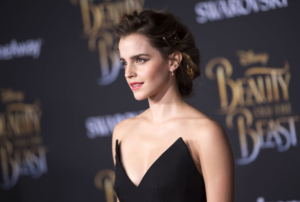 After all this time, Emma Watson is still close with her Harry Potter costars. The actress, who played Hermione in the franchise, had the support of her former Hogwarts classmates, Matthew Lewis (Neville) and Tom Felton (Draco), as she attended the LA premiere of Disney's live-action Beauty and the Beast on Thursday. While Matthew walked the red carpet with his fiancée Angela Jones, Tom opted to keep a low profile by skipping the carpet and sneaking in later. Even though the trio didn't pose for any pictures together, this certainly isn't their first reunion. The young men recently traveled back to the wizarding world with Jason Isaacs and Warwick Davis as they visited the Universal Orlando Resort.