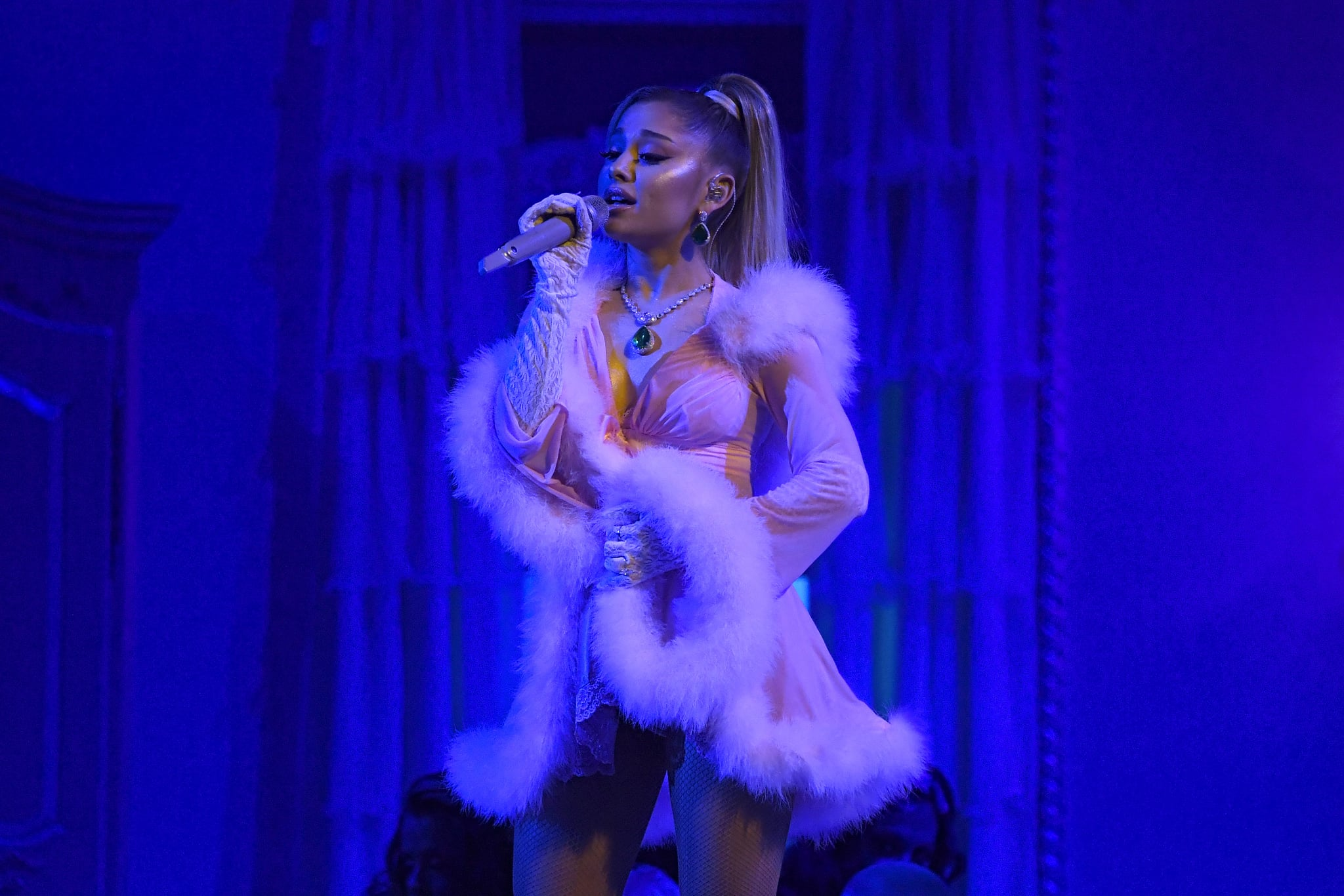 LOS ANGELES, CALIFORNIA - JANUARY 26: Ariana Grande performs onstage during the 62nd Annual GRAMMY Awards at Staples Centre on January 26, 2020 in Los Angeles, California. (Photo by Kevork Djansezian/Getty Images)