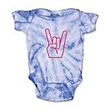 Cute Rascals Baby Hand Rock Short Sleeve Cotton Baby Bodysuit