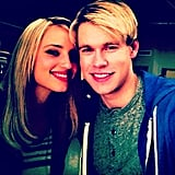 Dianna Agron and Chord Overstreet hung out on the set of Glee. Source: Instagram user chordover
