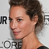 This loose updo on Christy Turlington Burns put all the spotlight on her complexion, which was almost devoid of makeup.