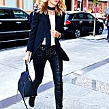 Leather Pants and a Blazer