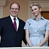 Charlene Looked Chic and Polished in a Classic Blue Shirtdress
