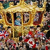Celebrating her Golden Jubilee in 2002.