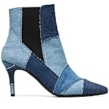 Kalda Blue Caro 80 Denim Patchwork Ankle Boots