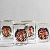 Harry Potter Hogwarts Holiday Crest Glass Tumblers