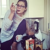 """What's your favourite, guilt-free snack? """"Dates with a spoonful of almond butter in them."""" Source: Instagram user phoebejtonkin"""