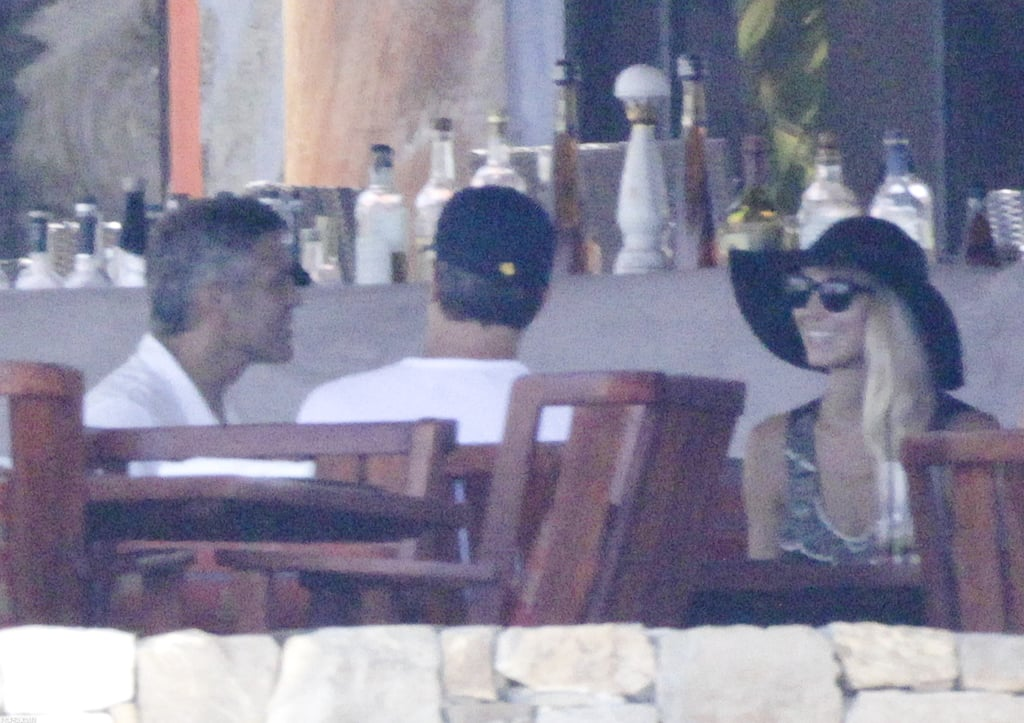George Clooney and Stacy Keibler hung out with friends in Cabo.