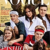 Victoria, Brooklyn, Romeo, Cruz, Harper, and Olive the Cocker Spaniel on the Cover of British Vogue