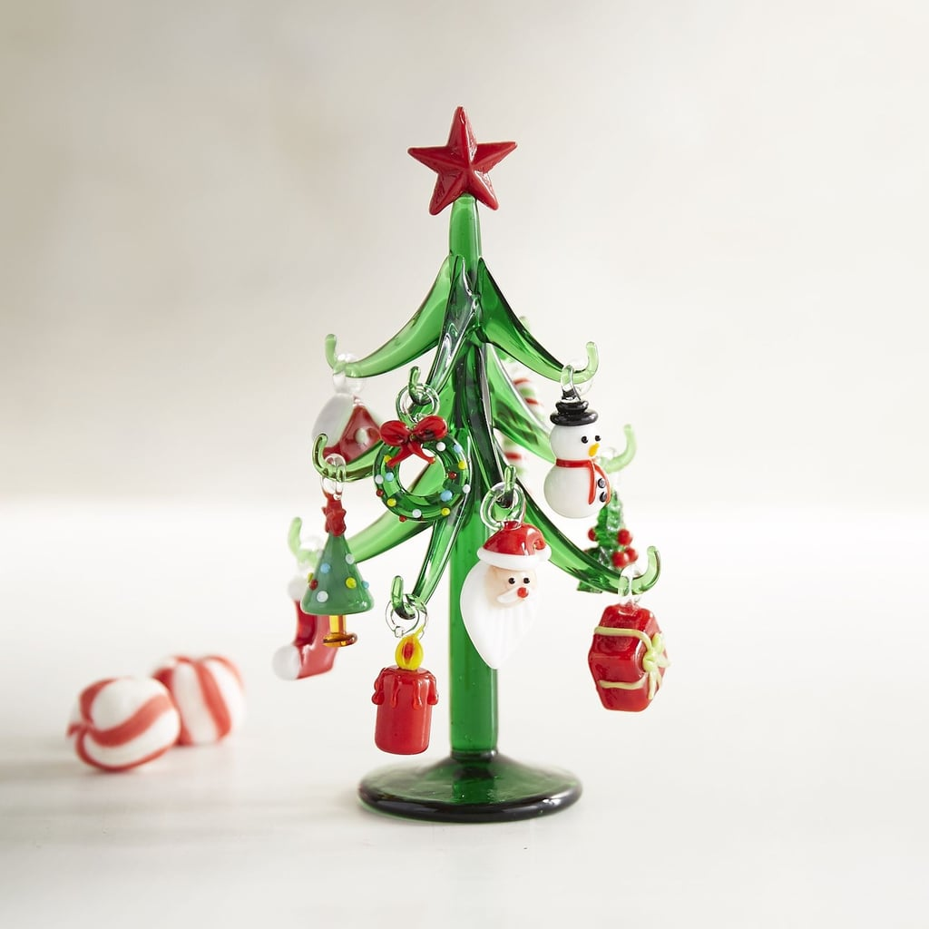 Glass Tree With Ornaments Collectible 18 Cheap Christmas