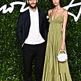 Simon Porte Jacquemus and Mica Arganaraz at the British Fashion Awards 2019 in London