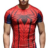Red Plume Men's Compression Fithness T-Shirt, Spider Printing Fithness T-Shirts ($30)