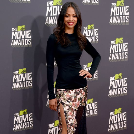 Zoe Saldana Outfit at MTV Movie Awards 2013 | Pictures