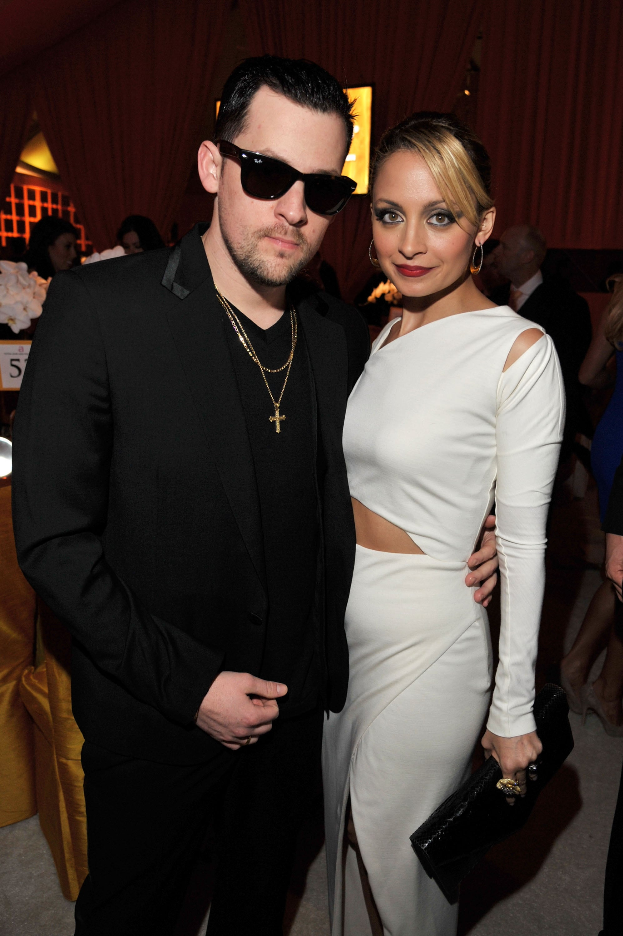 Nicole went for a vintage look when she and Joel attended Elton John's annual Oscars viewing party in February 2011.