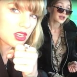 Taylor Swift and Gigi Hadid Singing in the Car February 2017
