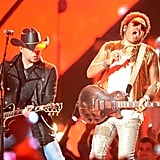 Lenny Kravitz and Jason Aldean at the CMT Awards.