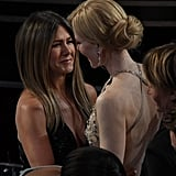 Jennifer Aniston and Nicole Kidman shared a laugh.