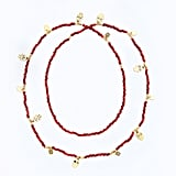 CC Skye Coral Beaded Bali Necklace
