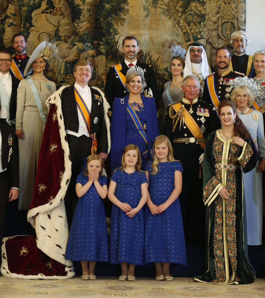 The Dutch royal family posed with other royals following ...