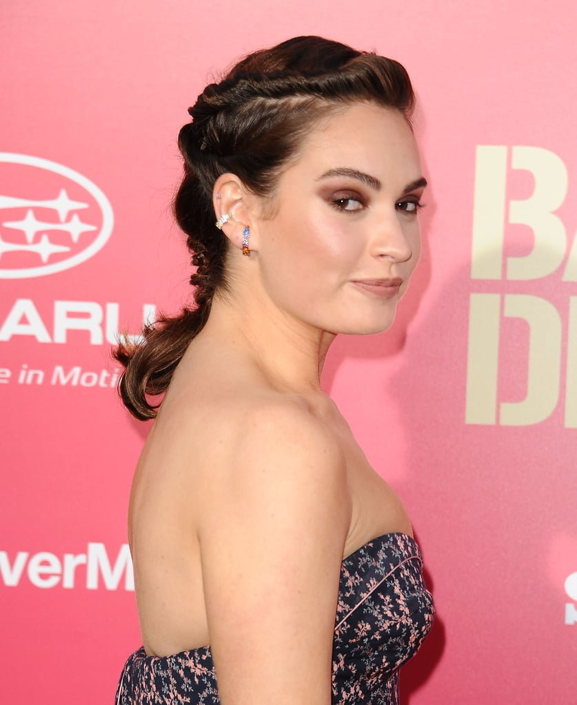 Lily James | Hairstyles Long Hair in Hot Weather | POPSUGAR Beauty ...