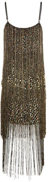 Elie Tahari Pacey Fringed Dress