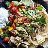 Slow Cooker Beer Chicken Taco Salad With Cilantro Vinaigrette